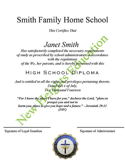 NHEG Diploma Template