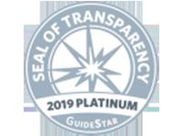 GuideStar 2019 Platinum Seal of Transparency